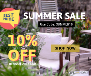 Life and Home Summer Sale 10% OFF on Minimum Purchase of $50. Code - SUMMER10